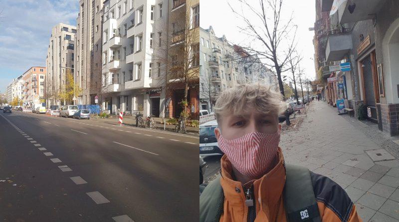 Berliner Straßen leer.